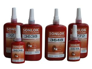 SONLOK锁固密封胶螺纹密封剂 圆柱零件固持胶 厌氧胶水 工业胶粘剂防水防油抗震防腐蚀